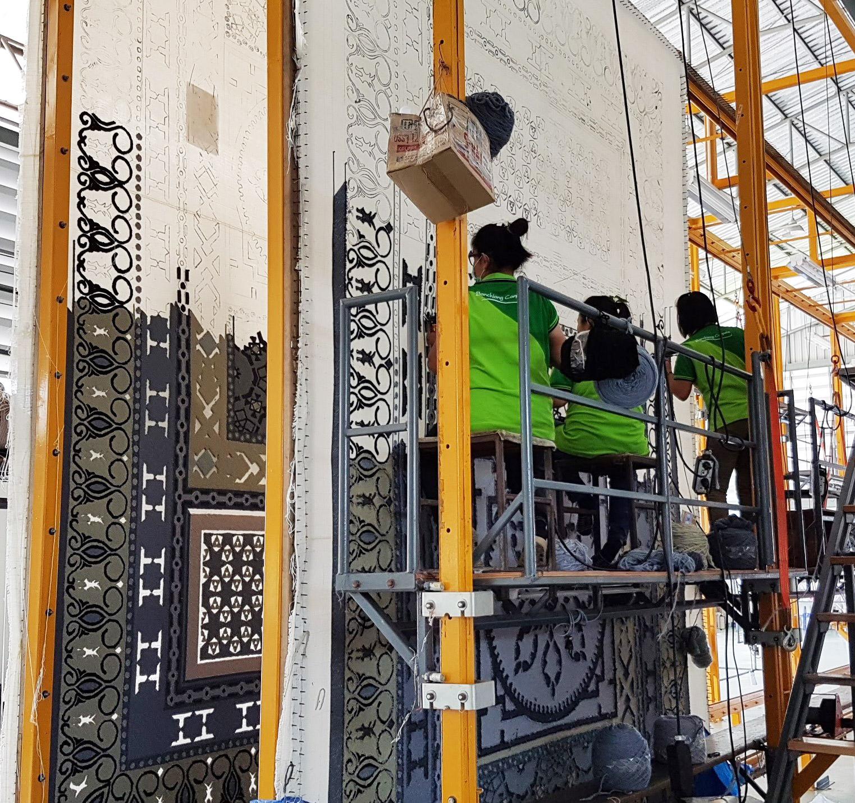 Adina lobby rug in Production